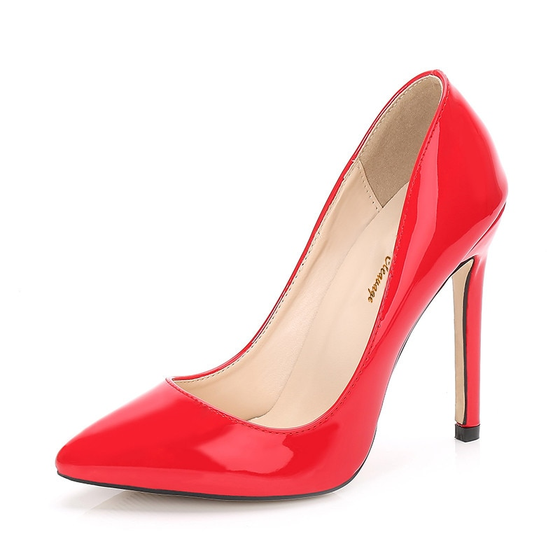 Travestido Stiletto señaló zapatos de punta Zapatos de mujer 11cm de tacón...