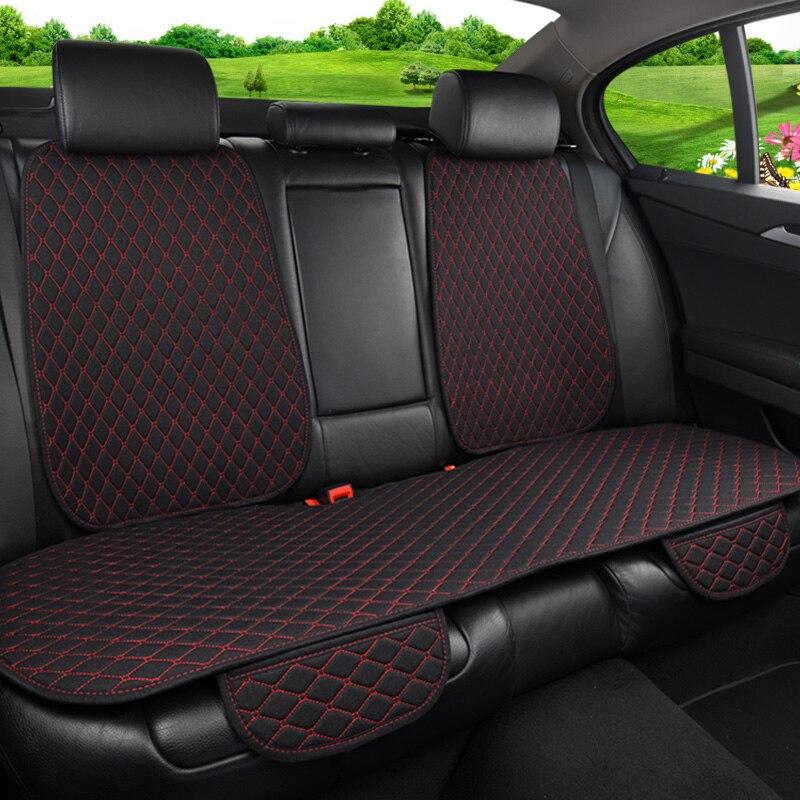 Funda protectora para asiento de coche, cojín para asiento trasero de coche de lino para coche, cojín para respaldo trasero de coche, asiento Interior para coche, camión, Suv o furgoneta