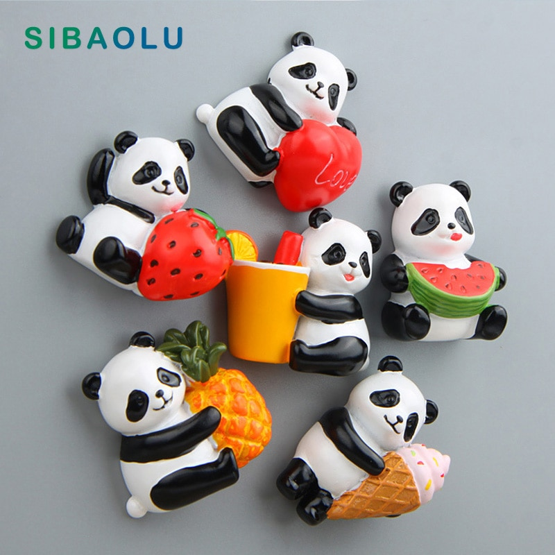 Panda Obst Form Kühlschrank magnet simulation cartoon Tier whiteboard aufkleber Kühlschrank Magneten für kind spielzeug Dekoration