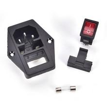 Module dentrée IEC320 C14 3 broches   Prise de courant mâle 10A 250V de haute qualité