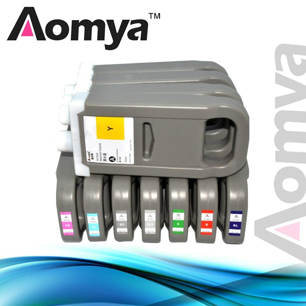 Para Canon iPF 8100/iPF 9100 PFI-701/PFI-702 cartucho de tinta Compatible de gran formato con tinta de pigmento 700ML 12 Colores/juego