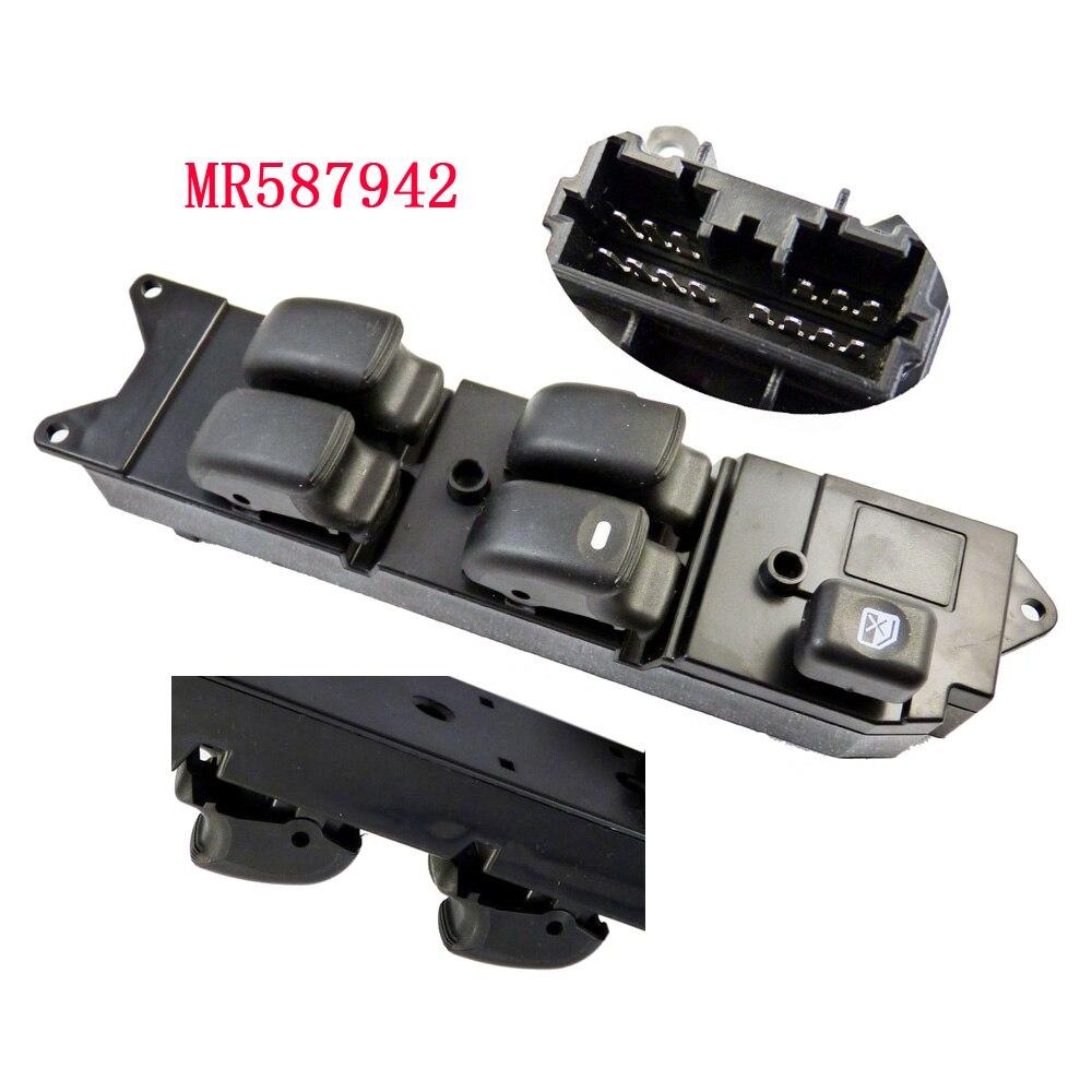 Mr587942 v73 interruptor de controle mestre, de janela de energia elétrica para mitsubishi lancer l200 pajero 2003-2011