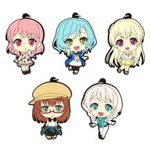 Bang Rêve! Pastel * Palettes Anime jeu Maruyama Aya Hikawa Hina Shirasagi Chisato Yamato Maya Wakamiya Eve bracelet en caoutchouc porte-clés