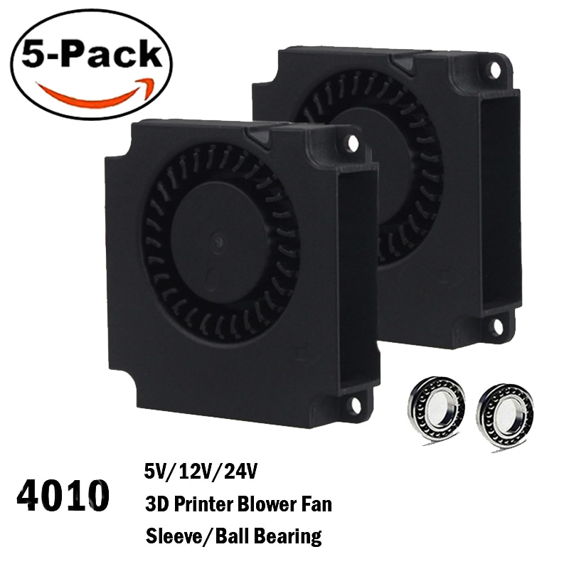 5PCS Gdstime 4010 Blower 40MM 40x40x10MM 5V 12V 24V 2Pin DC Cooler Small Cooling Fan FOR 3D PRINTER PART