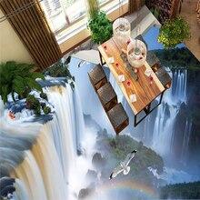 Beibehang-oiseau de mariée   Oiseaux, falaise, cascade, salle de bains, cuisine, passerelle vers papier peint 3D, papier mural
