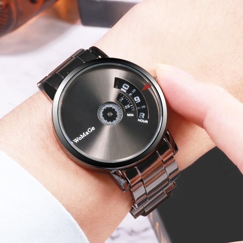Mens Top Brand Watches WOMAGE Fashion Design Casual Quartz Wristwatches Men Sport Clock Dropshipping Relogio Masculino