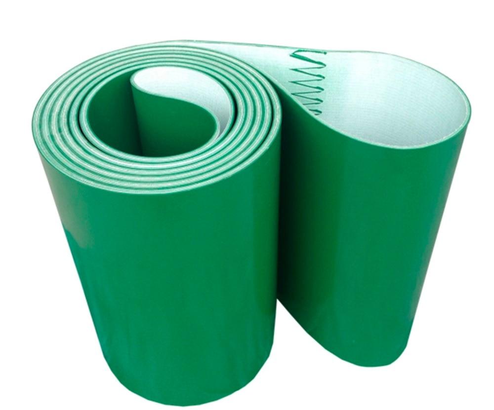 Customizable-500 * 300*1 مللي متر PVC الأخضر نقل الناقل الحزام الصناعي