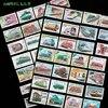 50 pièces/lot tous les différents Trains électriques Diesel sujet timbres-poste avec marque postale pour la Collection