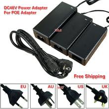 Adaptateur AC100-240V vers dc48 v, 0.8a, 48v, 1a, 3a, alimentation électrique, pour interrupteur POE, pour caméra de vidéosurveillance, dc 48v 40W 48W 96W, pour caméra POE