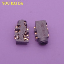 1-30pcs/lot Audio Combo Jack Connector for Asus N550 N550JA N550JK N550JV N550LF Q550LF etc headphone Port 6-pin