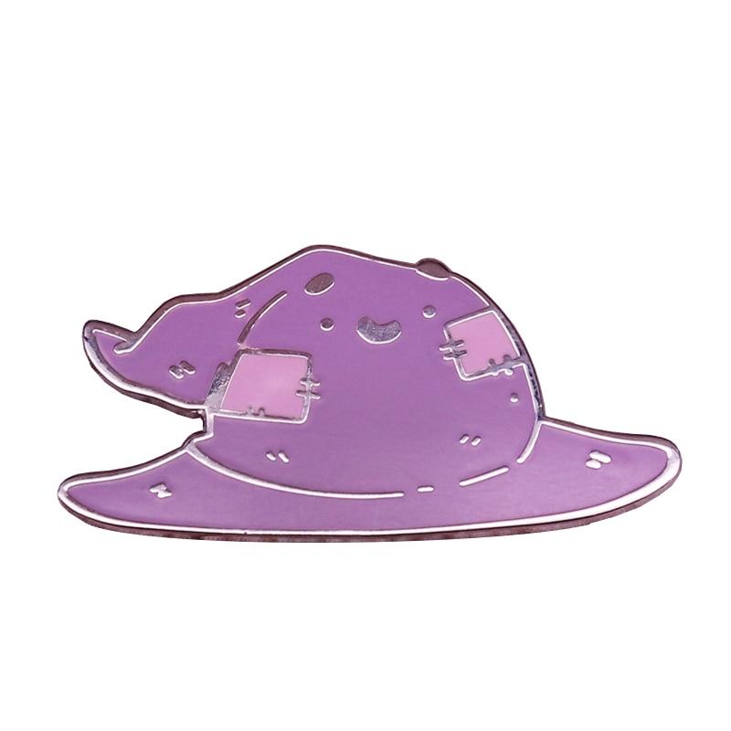 Kawaii magie chibi sortierung hut abzeichen hexe wizard pin pastell ästhetischen brosche fans sammlung