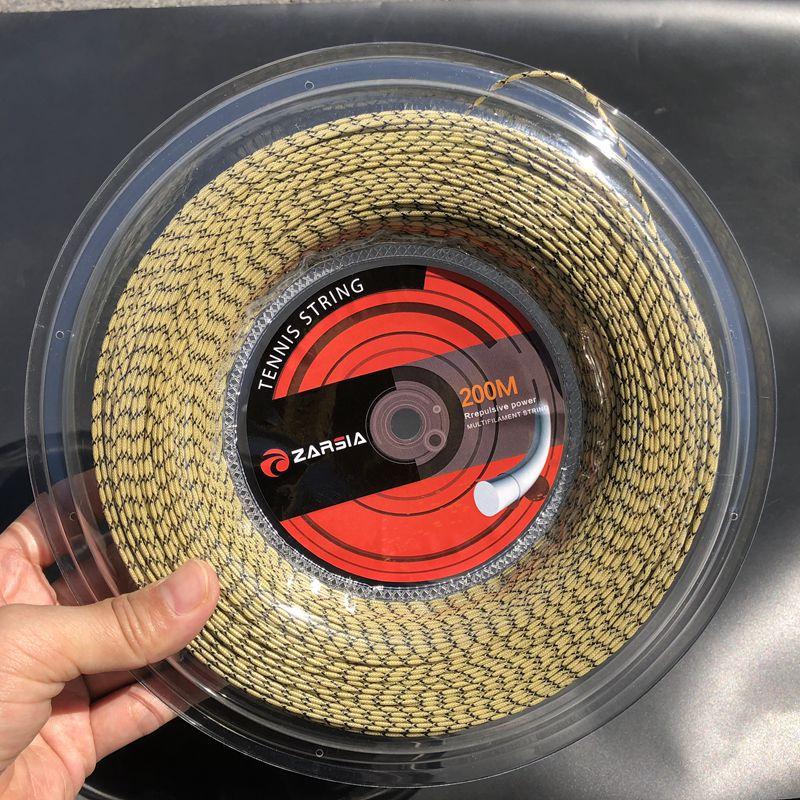 ZARSIA 200M sintético flash Nylon directo de 16G/1,35mm alto elástico raquetas de squash cuerdas de tenis