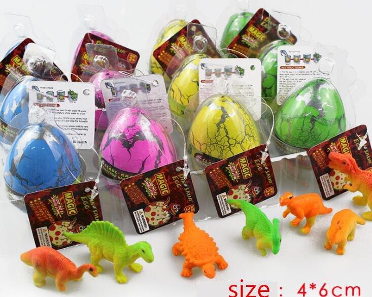 4 Uds tamaño grande coloridos huevos de dinosaurio adornos agua crecer juguetes los niños chico regalo mágico huevo chico de regalo