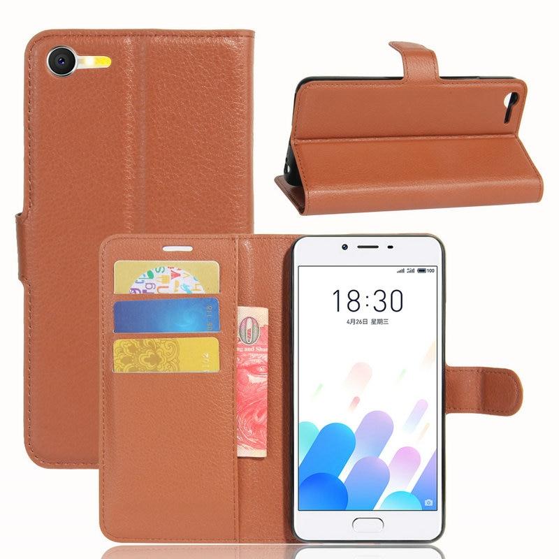 for Meizu E2 Wallet Flip Leather Case for Meizu E2 (Meilan E2 M2E M2 E) 5.5-inch phone Leather back