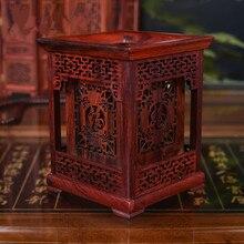 Stylo porte-stylo de Style classique   Stylo Mkuruti de haute qualité, exquise sculpture sur bois rouge, artisanat cadeaux ménagers, Vase à crayon détude archaistique