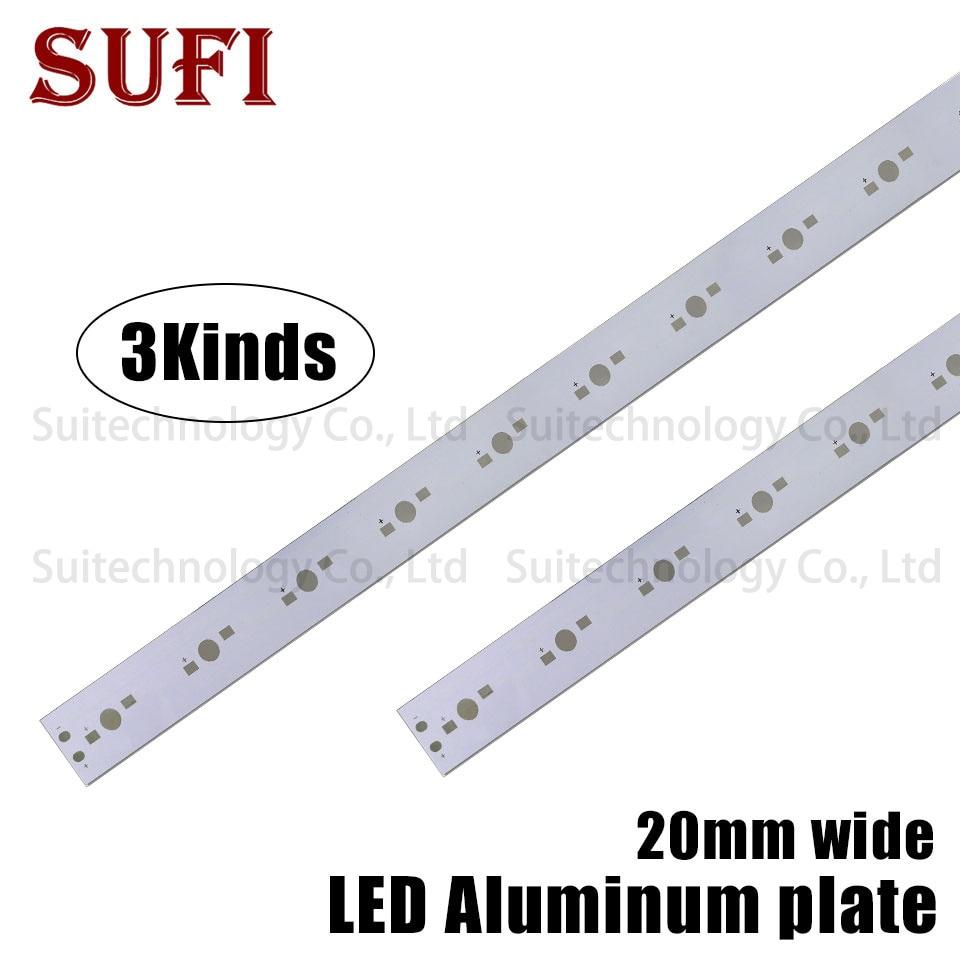 5W 7W 11W 15W 21W 33W Rectangle Aluminum Base Plate 5LEDs 7LEDs 11LEDs 20mm Wide For DIY High Power 1W 3W Watt Light Beads