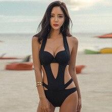 Beachwear 2018 Swimsuit For Girls One Piece A Whole Bathing Suit Women Womens Bodysuit Sexy Size Underwire Push Up Bandage