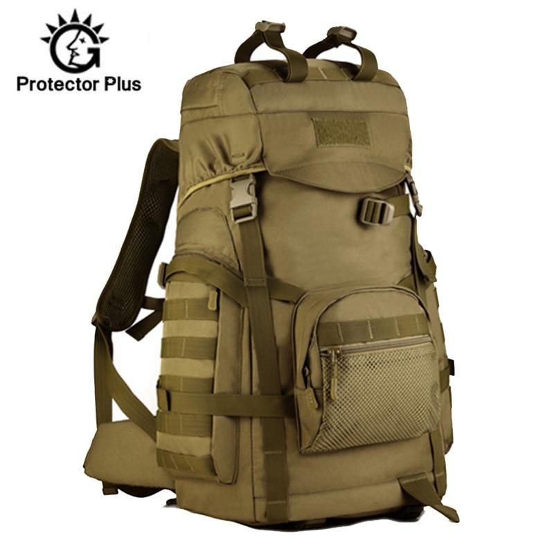 Mochila tática militar 60l masculina, de nylon, viagem, acampamento, escalada, montanhismo, esportiva, para áreas externas, xa805wa
