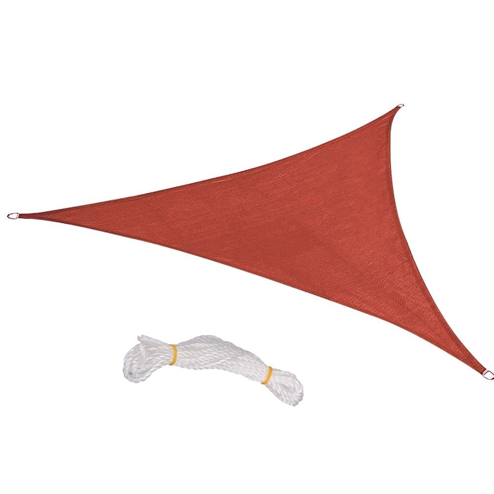 Al aire libre triángulo sol refugio sombrilla de protección al aire libre cubierta resistente a UV bloque toldo para Patio jardín carpa Camping Picnic tiendas de campaña