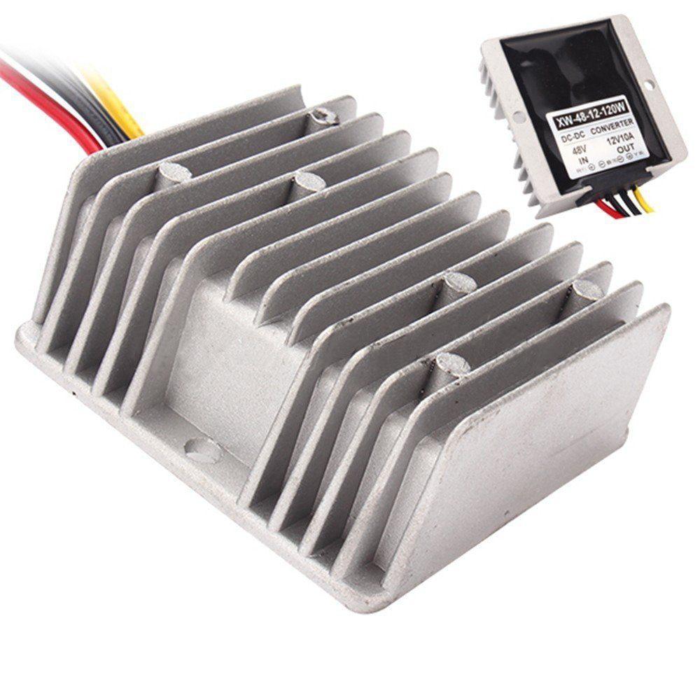 Convertidor de potencia del coche DC 48V a 12V 10A 120W Chip protección contra sobrecalentamiento