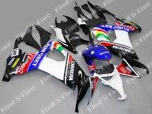 Blanc noir rouge bleu pour Kawasaki NINJA ZX-10R 08-09 ZX10R 2008-2009 ZX 10R 08 09 2008 2009 kit de carénage ABS