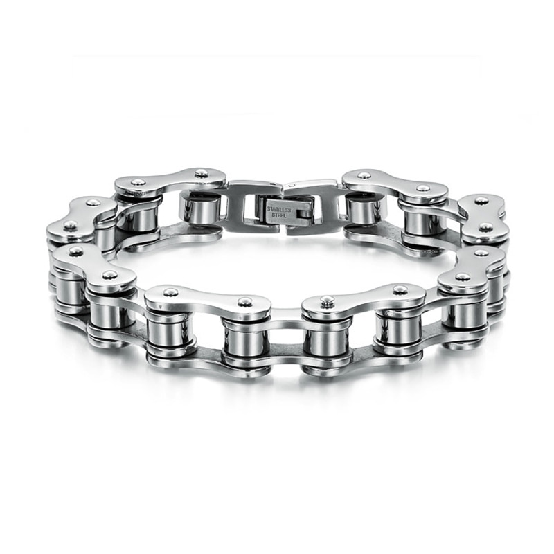 Zmzy Fashion Rvs Sieraden Cool Mannen Biker Fiets Motorfiets Chain Heren Armbanden & Bangles Voor Gift 3 Kleur