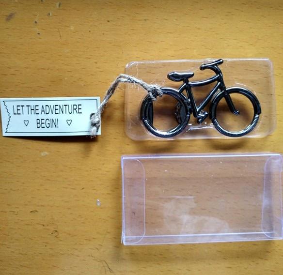 "wedding giveaways for man guest--""Lets Go On an Adventure"" Bicycle Bottle Opener party favor souvenir 50pcs/lot"