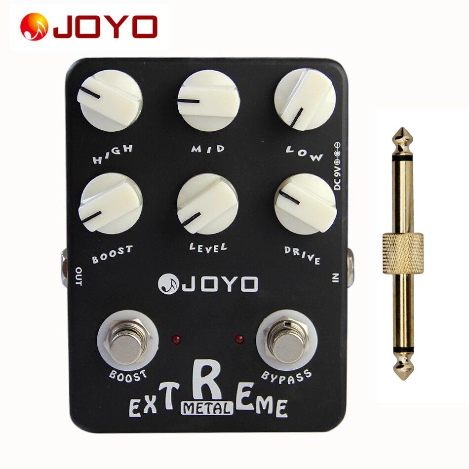 Caja de sonido de Pedal efecto guitarra JOYO Metal extremo (simulador de amplificador)-JF-17 + 1 Conector de pedal de pc
