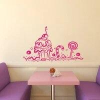 Stickers muraux decoration gateau sucre   Decoration murale  decoration de patisserie magasin cafe cuisine Cupcake decoration artistique Design interieur pour la maison