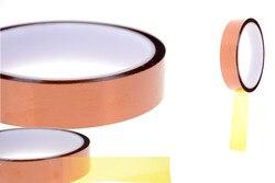 1 rolo 20mm x 30m resistente ao calor de alta temperatura poliimida fita adesiva tawny