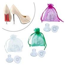 100 çift/grup Yüksek Heeler Latin Stiletto Ayakkabı Topuk Kapak Kapakları Topuk Tıpalar Nemli Yerleşimler Topuk Koruyucular Gelin Düğün Parti için