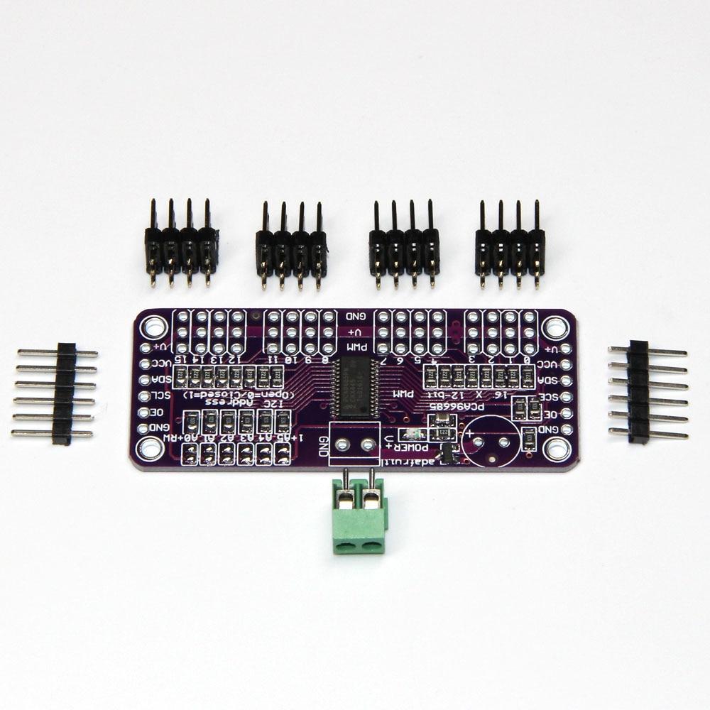 16 canales 12 bits PWM/Servo Driver-I2C interfaz PCA9685 para arduino o Raspberry pi módulo escudo servo escudo