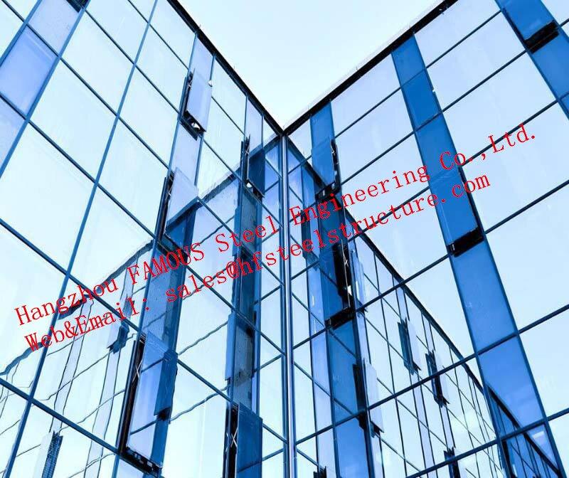 Diseño innovador doble piel cortina de vidrio Fabricación de pared e ingeniería respiratoria inteligente