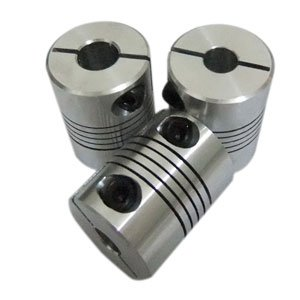 5 PCS/LOT 5mm to 5mm Flexible Shaft Coupler 5*5mm Flex Clamp Shaft Coupling Connector Diameter 20mm Length 25mm