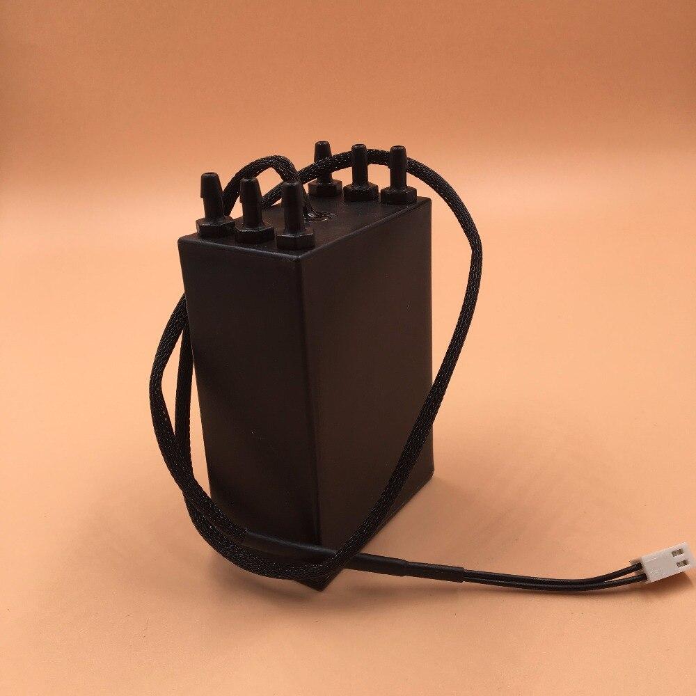Cartucho de tanque de tinta secundario negro para UV Konica para impresoras solventes de 6 agujeros con sensor de nivel Allwin JHF Vista Leopard