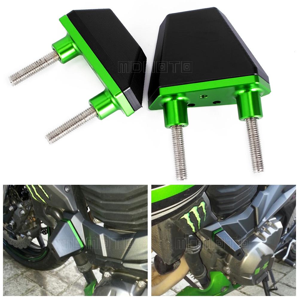 Almohadillas de tope de aluminio CNC Sliders Protector para Kawasaki Z800 2013 2014 2015 2016 Z750 Z1000 piezas de accesorios de motocicleta