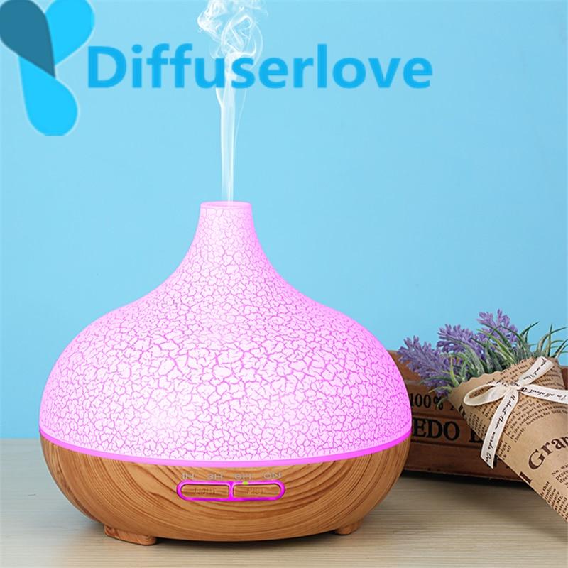 Diffuserlove 300ml ultra-sônico umidificador de ar para casa difusor de óleo essencial humidificador névoa maker 7 cor led aroma difusor