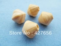 15pcs 25mm spinning top wood large hole spacer beads pendant charm finding diy accessory jewellery making