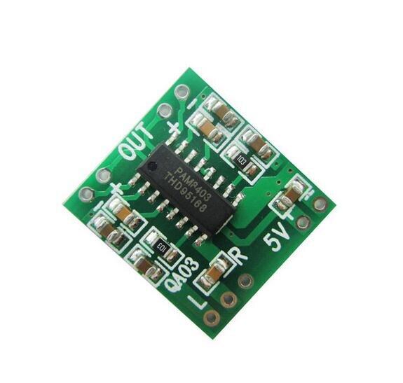 20 stücke PAM8403 Modul Super Mini Digitale Verstärkerplatine 2*3 Watt Klasse D 2,5 V zu 5 V USB Stromversorgung
