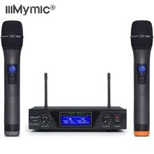 IU-602 UHF Dual Channel 2 Metalen Handheld Mic Zender Professionele Lange Afstand Draadloze Microfoon Systeem voor Karaoke Toespraak