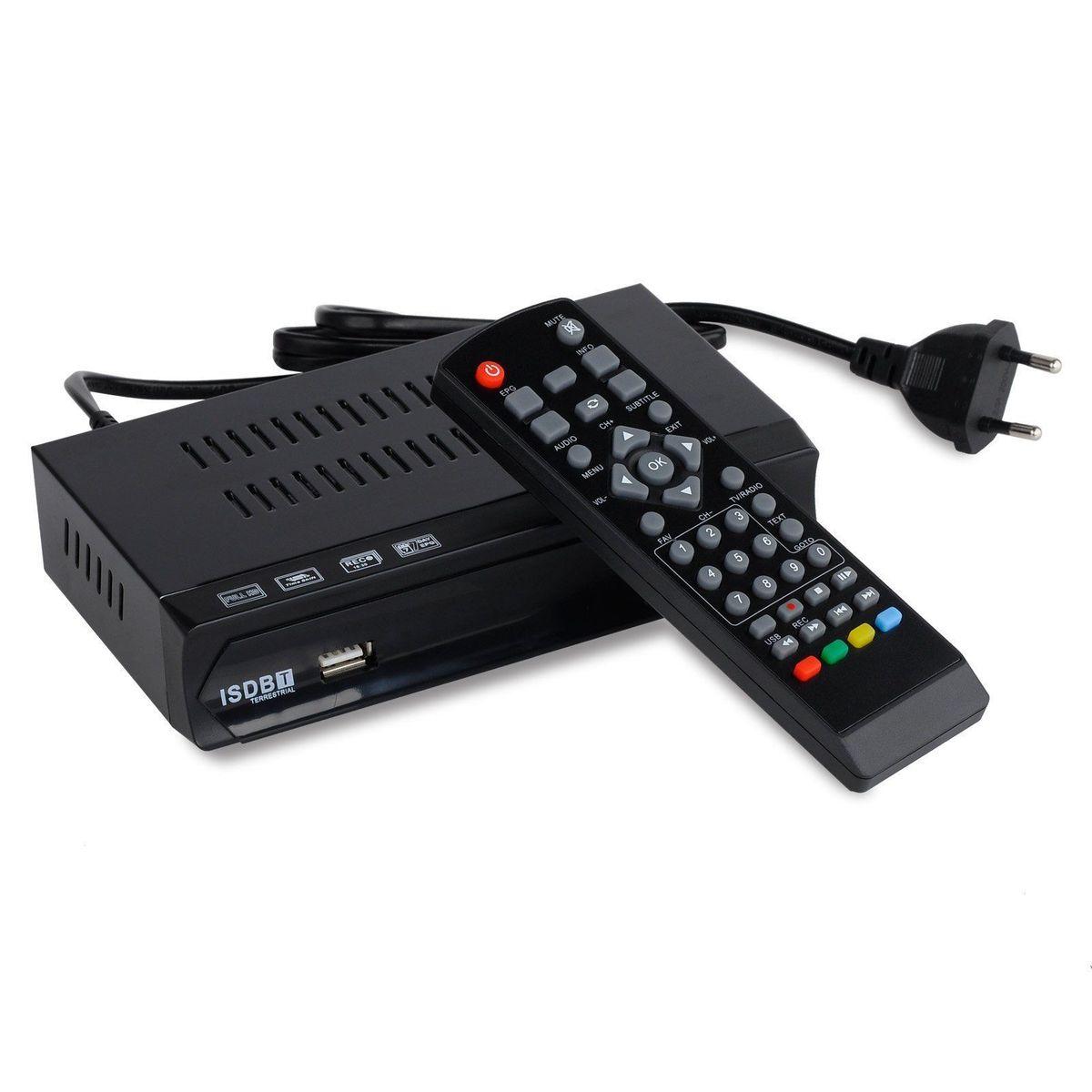 FTA Brazil Peru Digital Terrestrial ISDB-T TV Tuner Receiver Set Top Box Full HD 1080P USB Recorder EPG HDMI Out VHF UHF Antenna