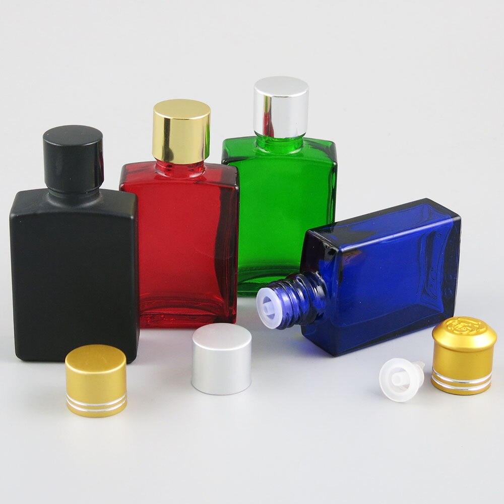 360x30 مللي الضروري النفط السفر المحمولة الملونة الزجاج الكهربائية الألومنيوم غطاء ل السائل كاشف ماصة التجميل الحاويات