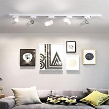Luminaire LED moderne GU10 Rail projecteurs lampe LED suivi luminaire spots ampoule pour magasin Shop Showroom