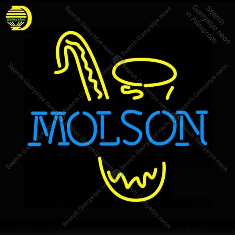 SINAL de NÉON Para Molso Saxofone NEON Lâmpadas Lâmpada Sinal Anunciar Decorar Sala de Música Artesanato Tubo de VIDRO Real luz de néon personalizado