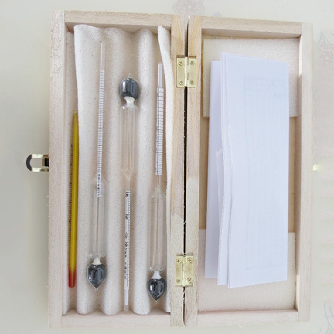 Alcoholímetro 3 unids/set, alcoholímetro, medidor de concentración de Alcohol, instrumento hidrómetro, herramienta de medición