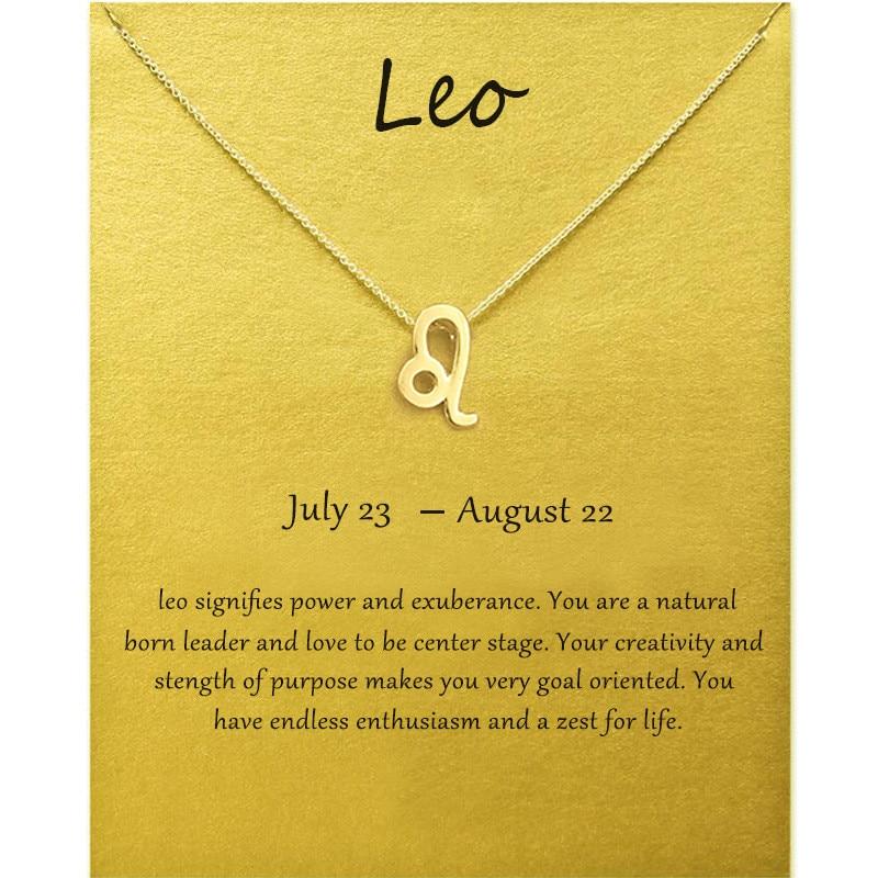 Collar con colgante de constelación Leo de 12 pulgadas, joyería minimalista Vintage para mujer, collar con signo del zodiaco para hermana, regalo de boda