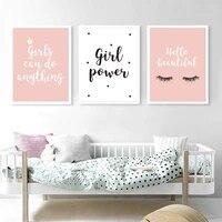 Peintures en toile modernes avec citations douces pour decoration de chambre de filles  affiche et images dart murales imprimees pour chambre denfants  decoration de maison
