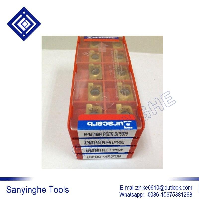 Envío gratis de alta calidad sanyinghe 50 unids/lote APMT1135 PDER DP5320 inserto de fresado de carburo cnc