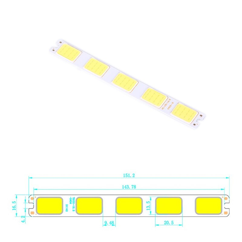 1PC COB LED Light 12V 5W DC LED Bulb Chip On Board Colorful COB Strip Modules 151x16.5mm For DIY Lighting