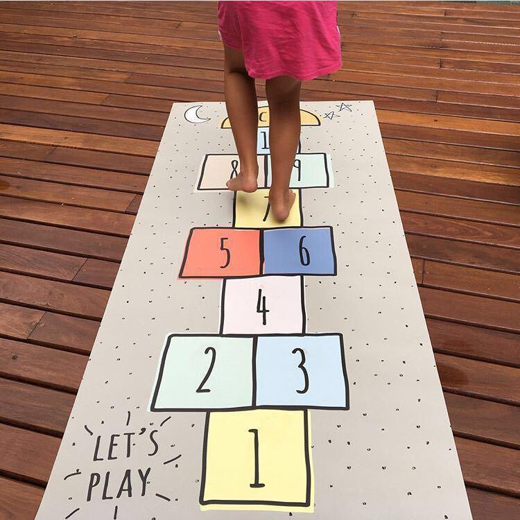 الرياضة التعليمية الزحف الحصير بطانية الأطفال تلعب الحصير الطفل Hopscotch حصيرة جمنازيوم Tapete الرضع تلعب حصيرة للأطفال لعبة البساط
